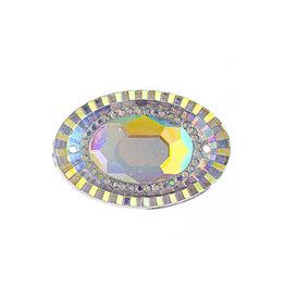 Resin Sew-On Piikki Stones 10pcs 18X25mm Oval