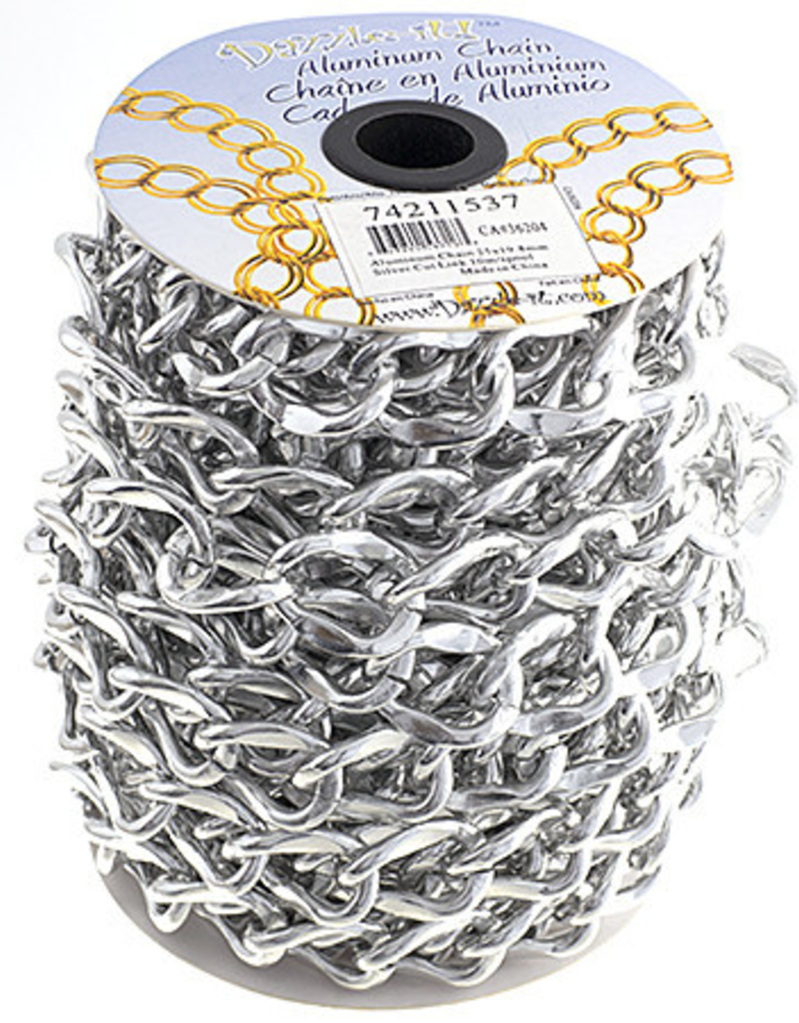 Aluminum Chain 10m/Spool Silver 25 x 19.8mm