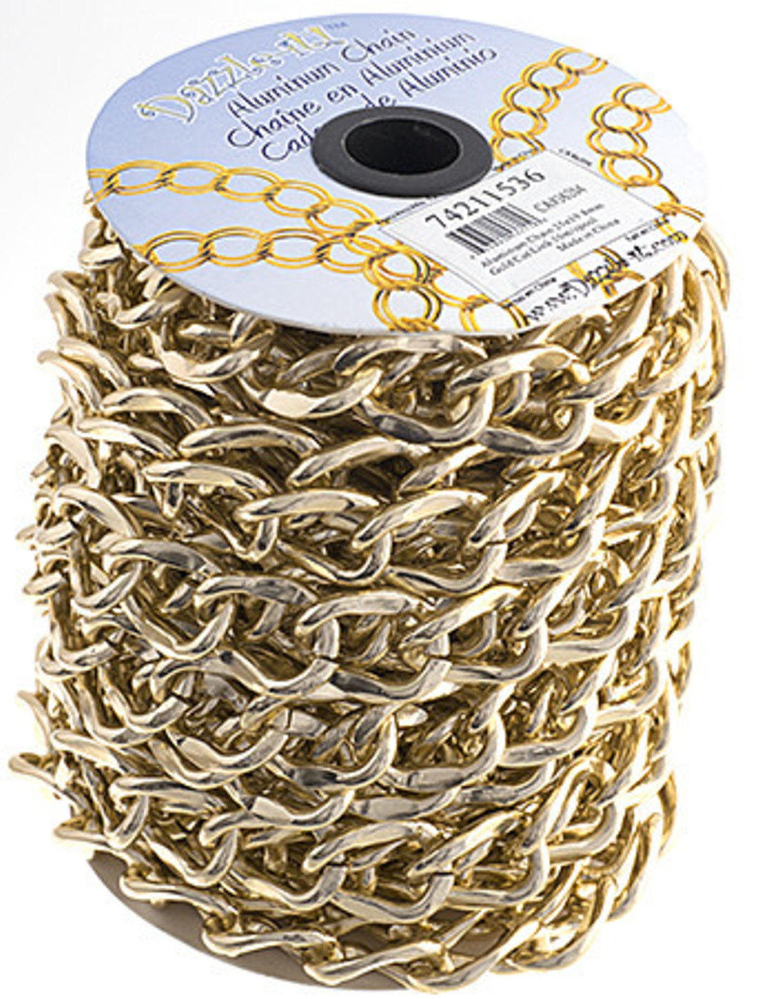 Aluminum Chain 10m/Spool Gold 25 x 19.8mm