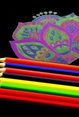 8 Neon Coloured Pencils