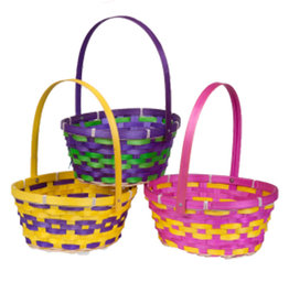 Easter Basket Oval w/Foldover Handle