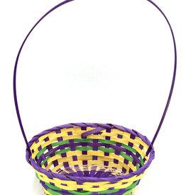 Easter Basket Oval Bamboo w/Handle