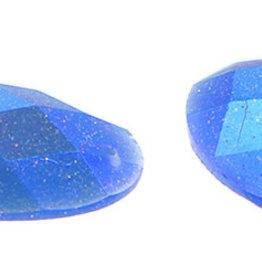 Glitter Sew-On Stone (10 pcs) 18x25mm Oval