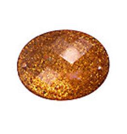 Resin Sew-on Glitter Stone18x25mm Oval