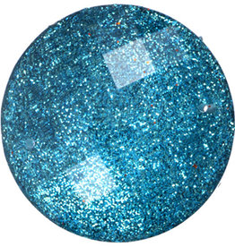 Resin Sew-on Glitter Stone 33mm Round