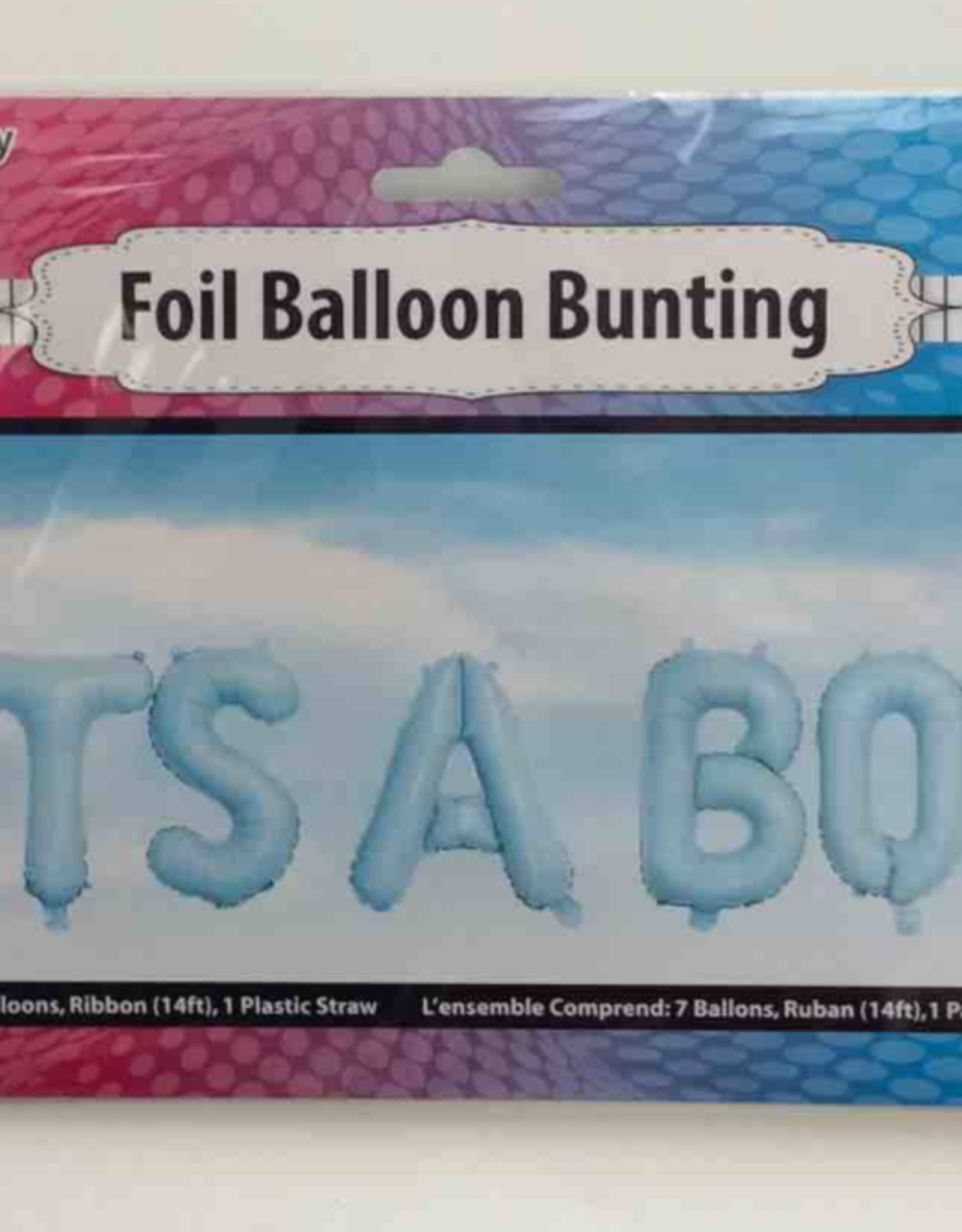 16IN IT'S A BOY FOIL BALLOONS BUNTING BLUE