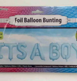 IT'S A BOY FOIL BALLOONS BUNTING BLUE 16IN