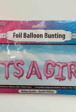 16IN IT'S A GIRL FOIL BALLOONS BUNTING PINK