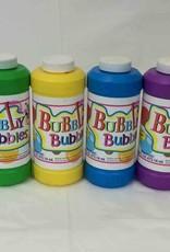 16Oz Bubble Liquid W/Wand, Assorted Colors