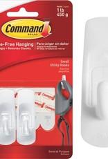 Command Hooks White Small 1Lb