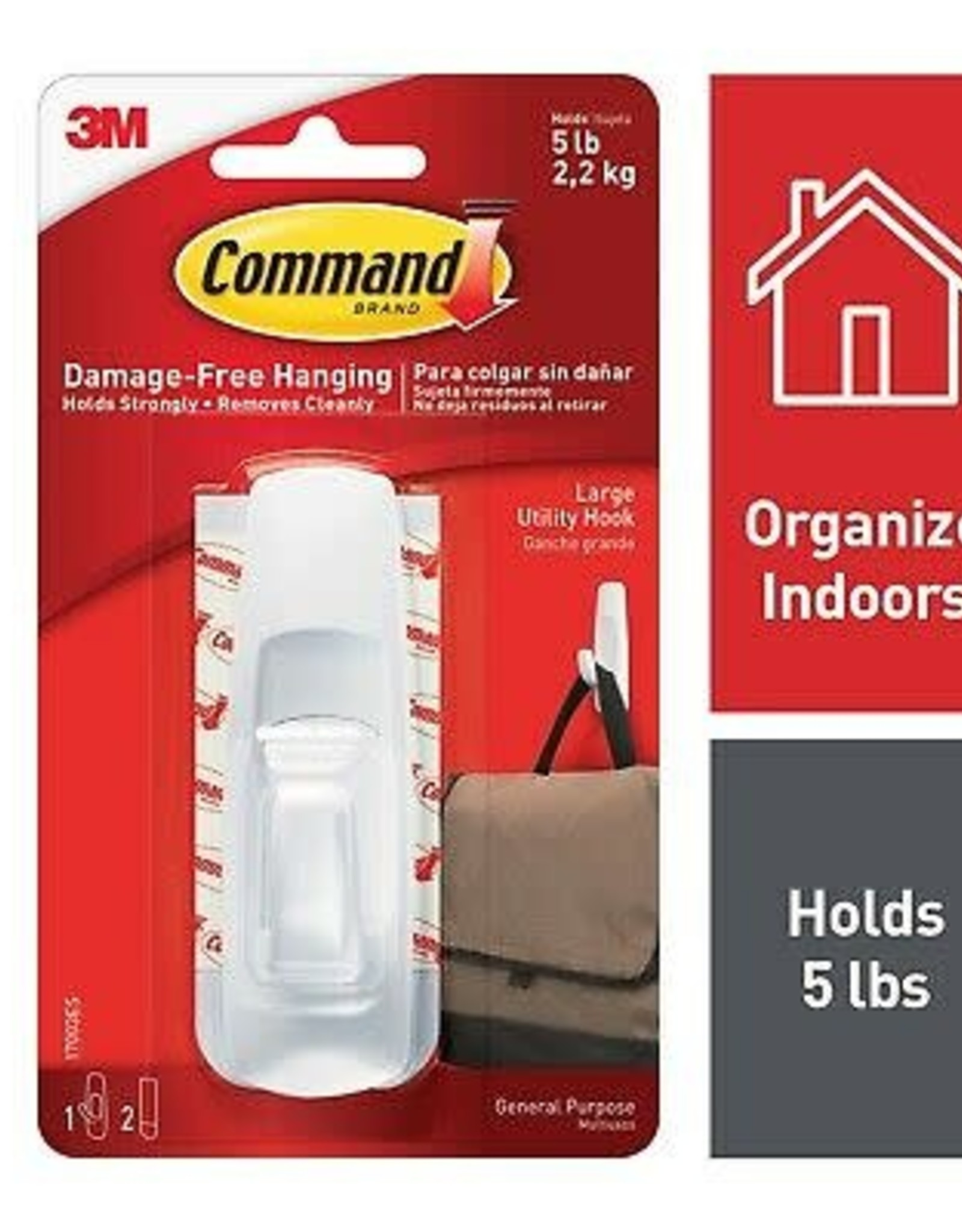 Command Hook White Large 5Lb