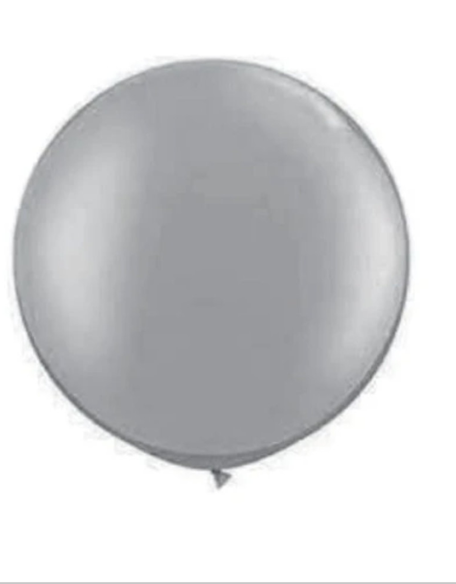 "Giant Latex Balloons, Metallic Silver 30"" (2pcs)"