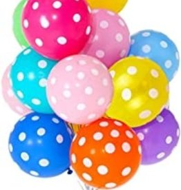 Polka Dots 12 Inches Party Balloons (8 Pieces)