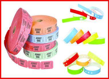 Wristbands/Tickets