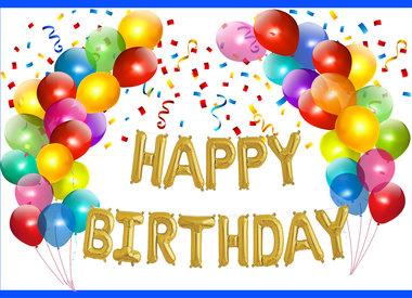 Birthday Balloons (Helium Quality)