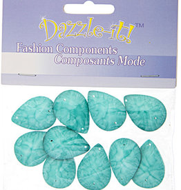 Resin Sew-on Crinkle Stone 18x25mm Drop (10 Pieces)
