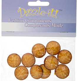 Resin Sew-on Crinkle Stone 18mm Round (10 Pieces)