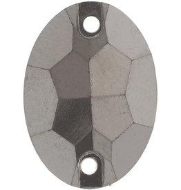 Metallic Sew-On Stones 13 x 18mm Oval (50 pieces)