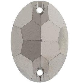 Metallic Sew-On Stones 7 x 24 mm Oval (50 pieces)