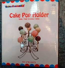 Fancy Cake Pop Holder Silver 4.75X5.5X6.25 Inches