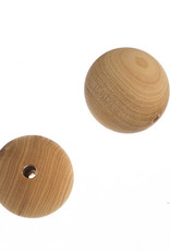 Cedar Wood Bead Round 8 Inches Natural 10mm