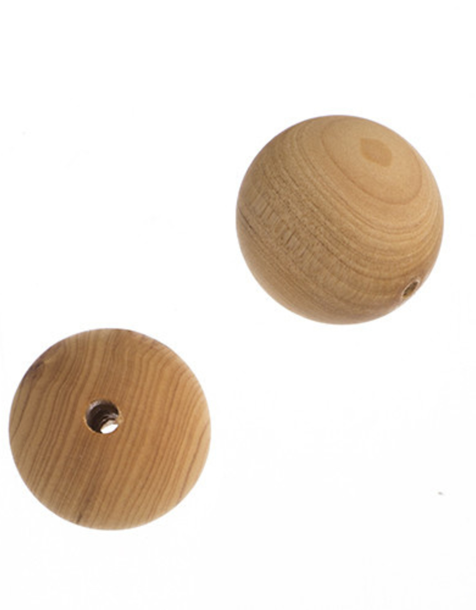 Cedar Wood Bead Round 8 Inches Natural 18mm