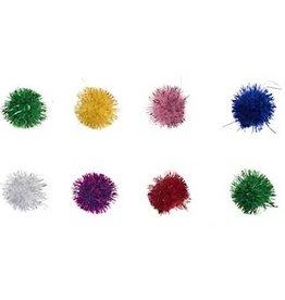 Glitter Pom Poms 3/4 Inch (10 pieces)