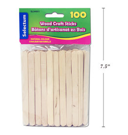 Wooden Craft Sticks 100 Pieces (114mm) 4.5 Inches Natural