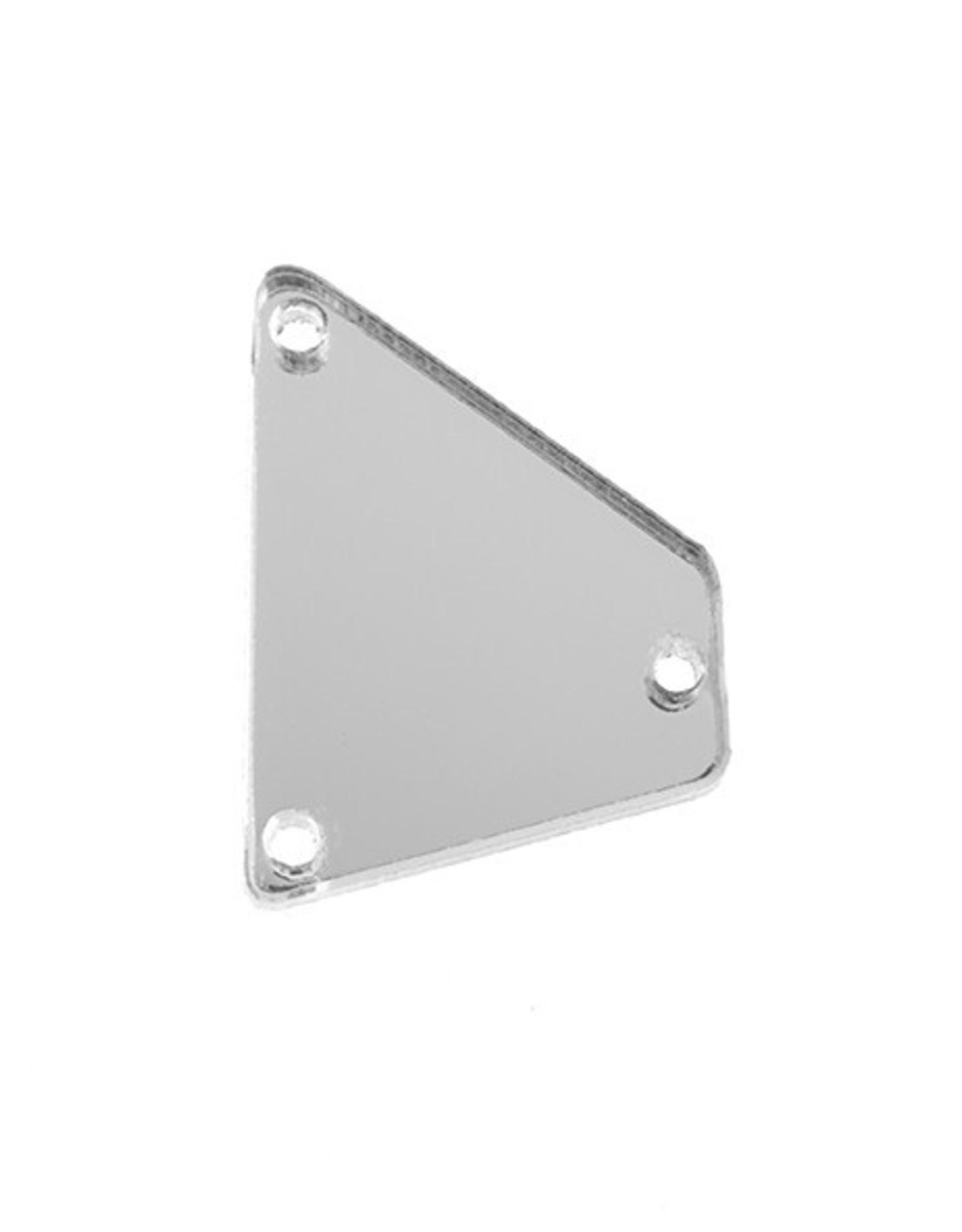 Acrylic Mirror (20 pcs) Crystal 15x20mm Trapezoid