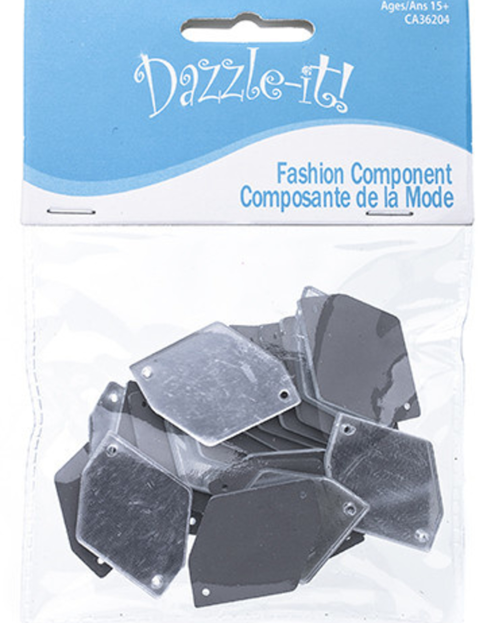 Acrylic Mirror (20 pcs) Crystal 24x34mm Hexagon