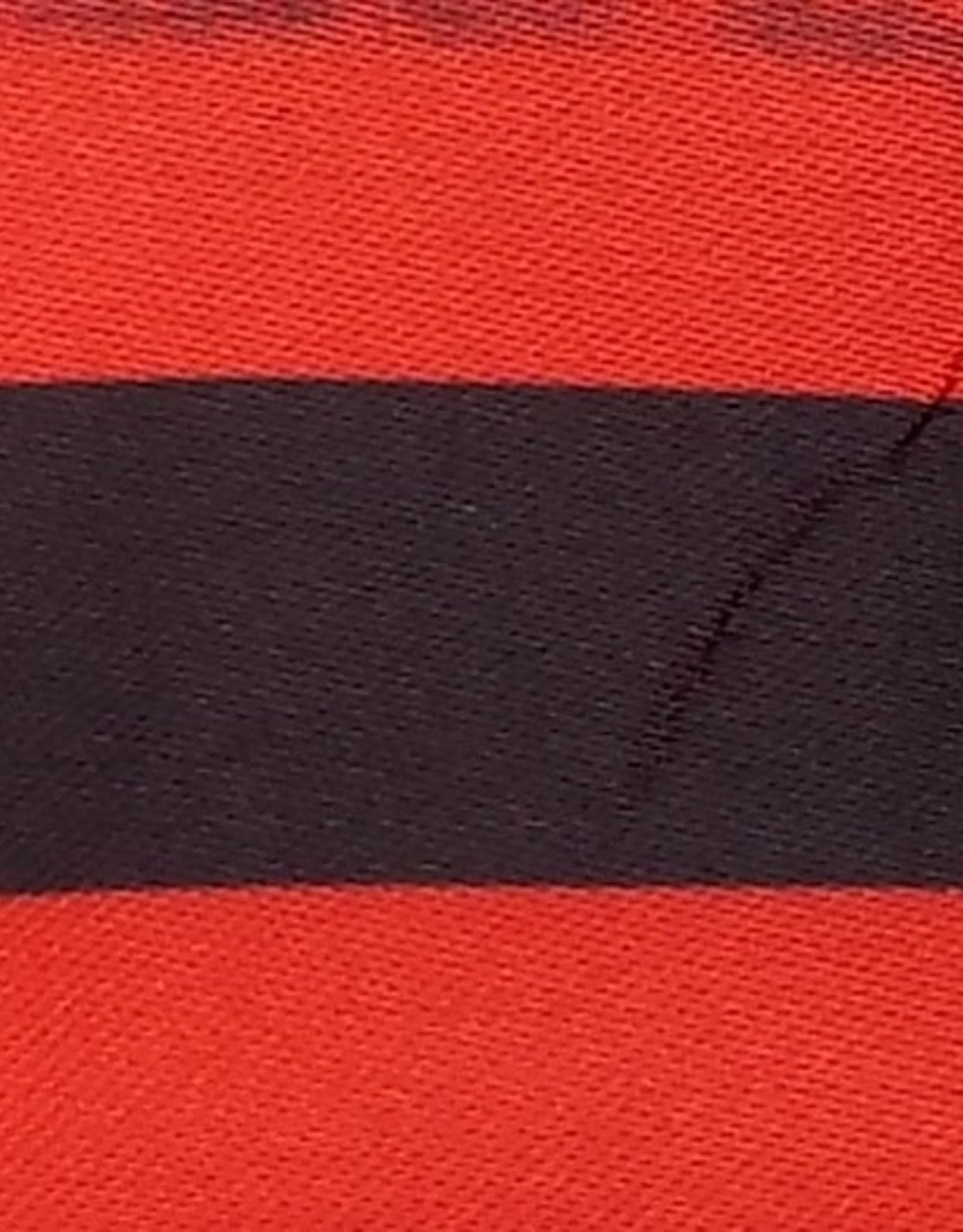 Satin Polyester 58 - 60 Inches Striped - Red & Black