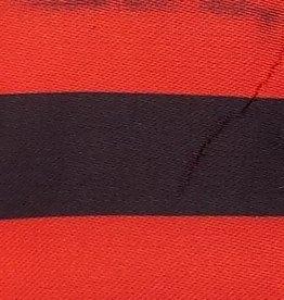 Satin Striped - Red & Black