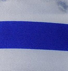 Satin Striped - Royal Blue & White