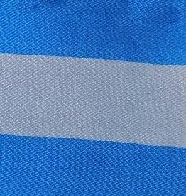 Satin Striped - White & Turquoise