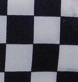 Satin Checkered - White & Black