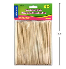 Wooden Craft Stick Jumbo 60 pieces 150mm Natural