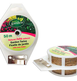 Natural Jute Twine with Cutter 50m