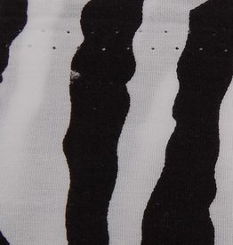 Zebra Print Cotton 58 - 60 Inches White and Black