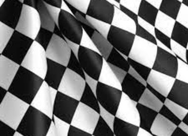 Patterned Checkered Satin
