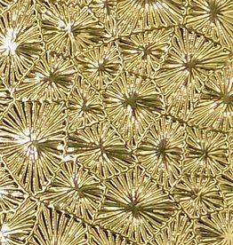 Pattern Fandango Leatherette w/ Fleece Backing Gold