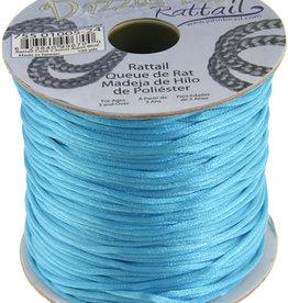 Rattail Cord 1.5mm (100 yards)  Aqua Blue