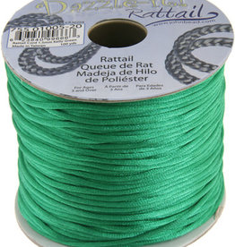 Rattail Cord 1.5mm (100 yards)  Kelly Green