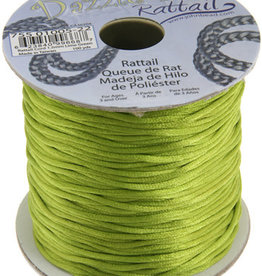 Rattail Cord 1.5mm (100 yards)  Lime Green