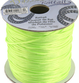 Rattail Cord 1.5mm (100 yards)  Neon Green