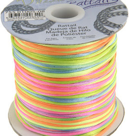 Rattail Cord 1.5mm (100 yards)  Rainbow