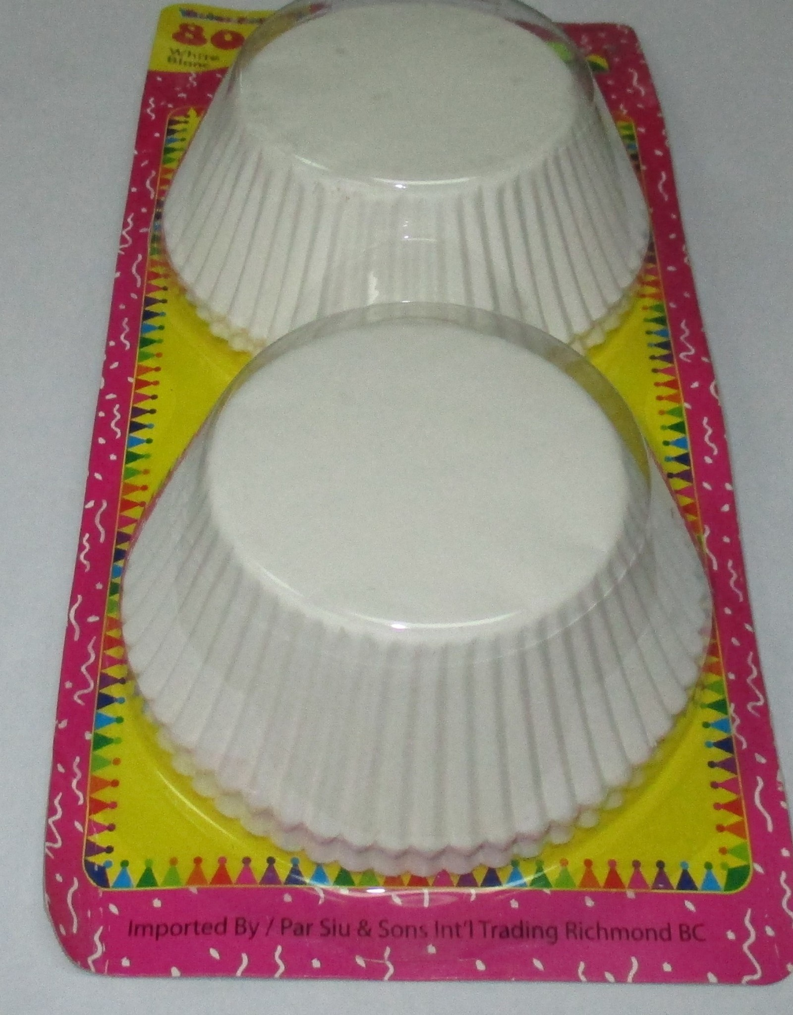 Colored Cake Cups 4.75 Inches White