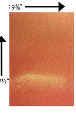 Glitter Card Stock 360 GSM 19 5/8 x 27 1/2 Inches Orange Iridescent