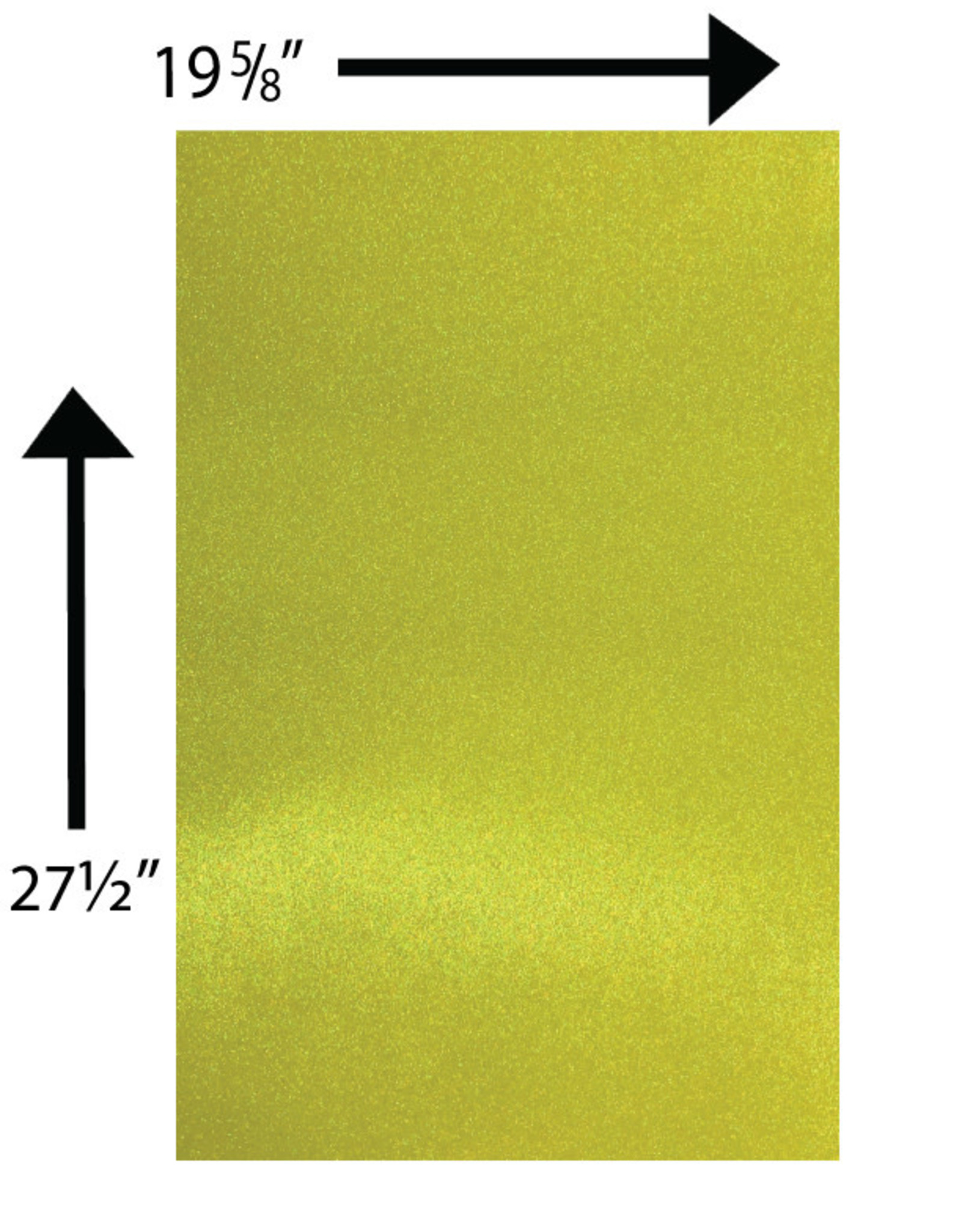 Glitter Card Stock 360 GSM 19 5/8 x 27 1/2 Inches Yellow