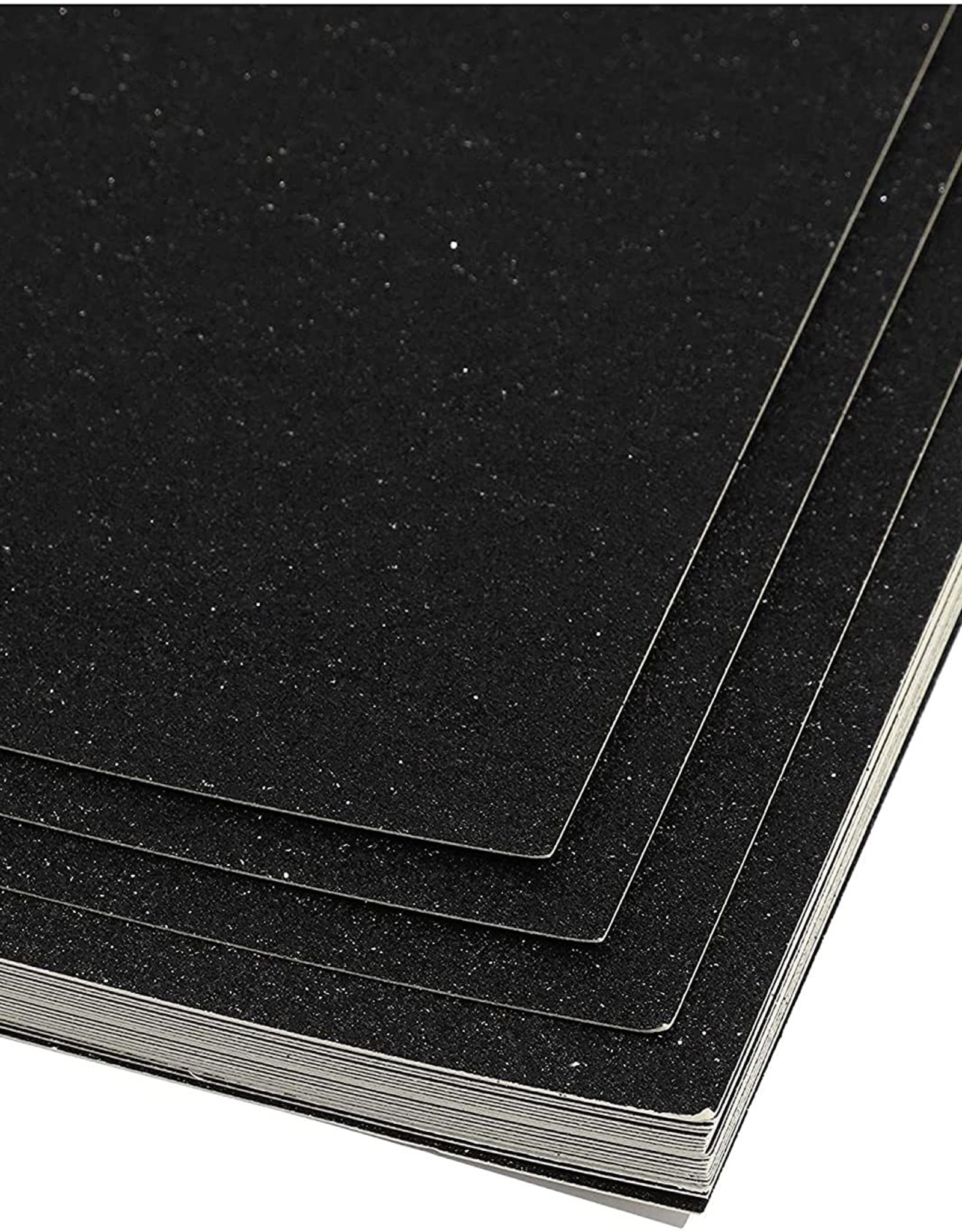 Glitter Card Stock 360 GSM 19 5/8 x 27 1/2 Inches Black