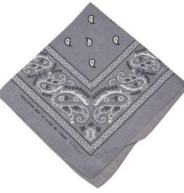 Bandana Paisley Patterned Grey